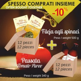 Pasta Fileja agli spinaci...